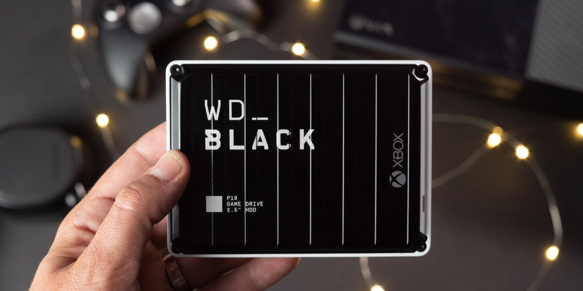WD_Black P10 for Xbox One above table