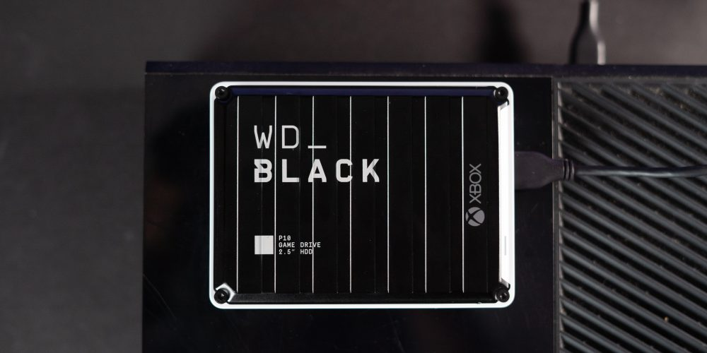 WD Black for Xbox One plugged into Xbox