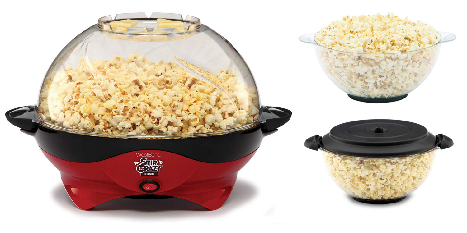 West Bend's Popcorn Maker doubles as a serving bowl, now $27 (Reg. $40+)
