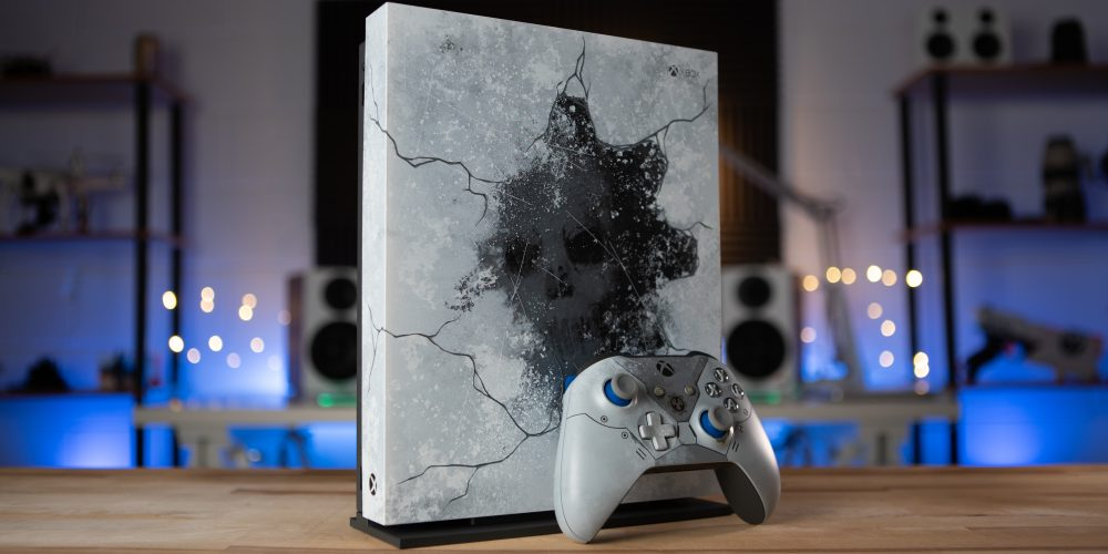 Xbox One X Gears 5 Limited Edition Bundle on desk