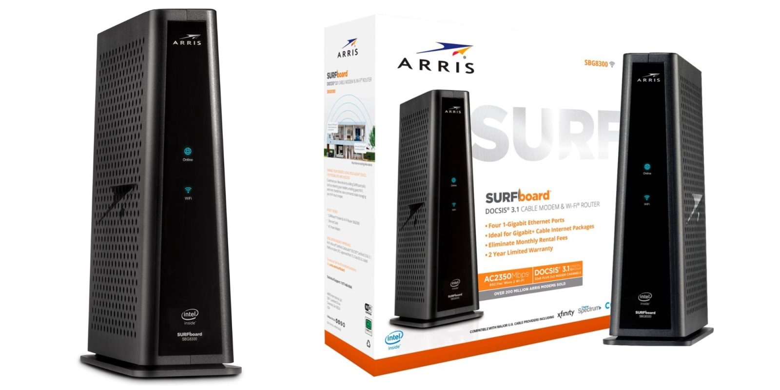 Save 20% on this ARRIS SURFboard DOCSIS 3.1 Modem and 802.11ac Router at $240