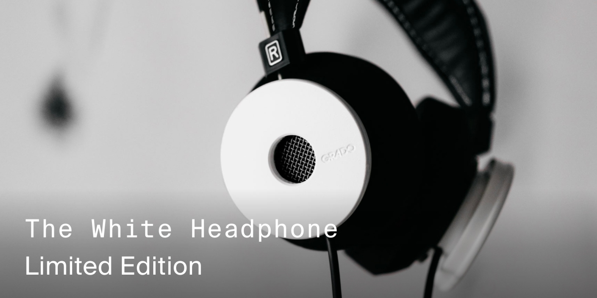 New Grado White Headphones