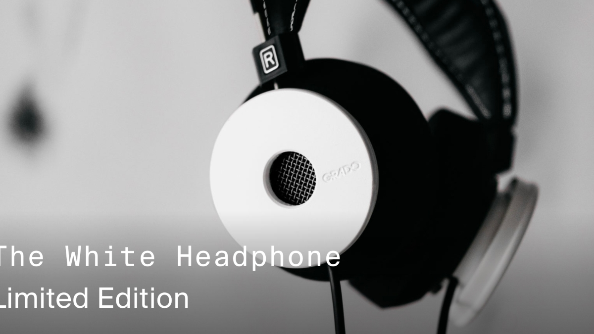 New Grado White Headphones