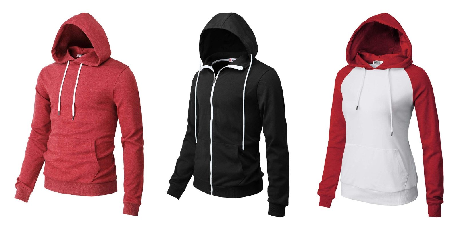 Today only, Amazon discounts H2H men's and women's hoodies from under $10