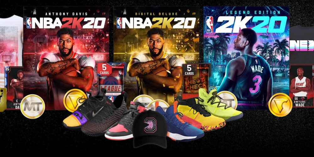Various versions of NBA 2K20