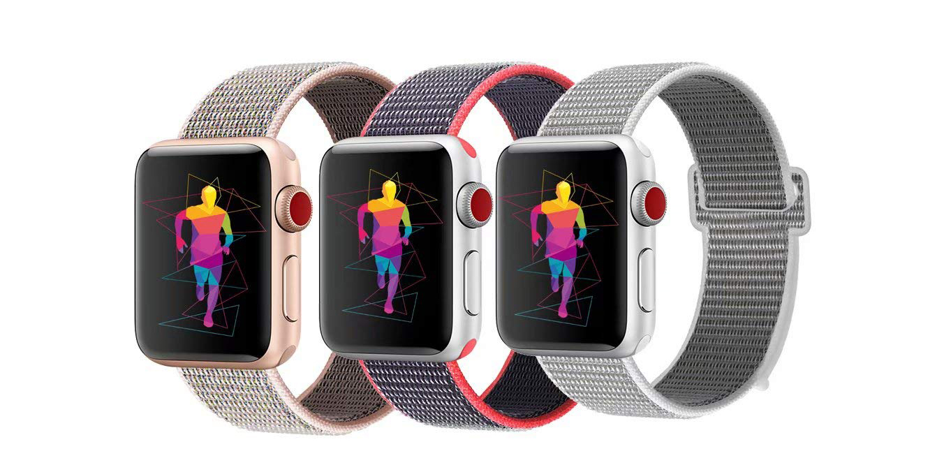 Outfit your new Apple Watch with a $7 sport loop band or three for $15