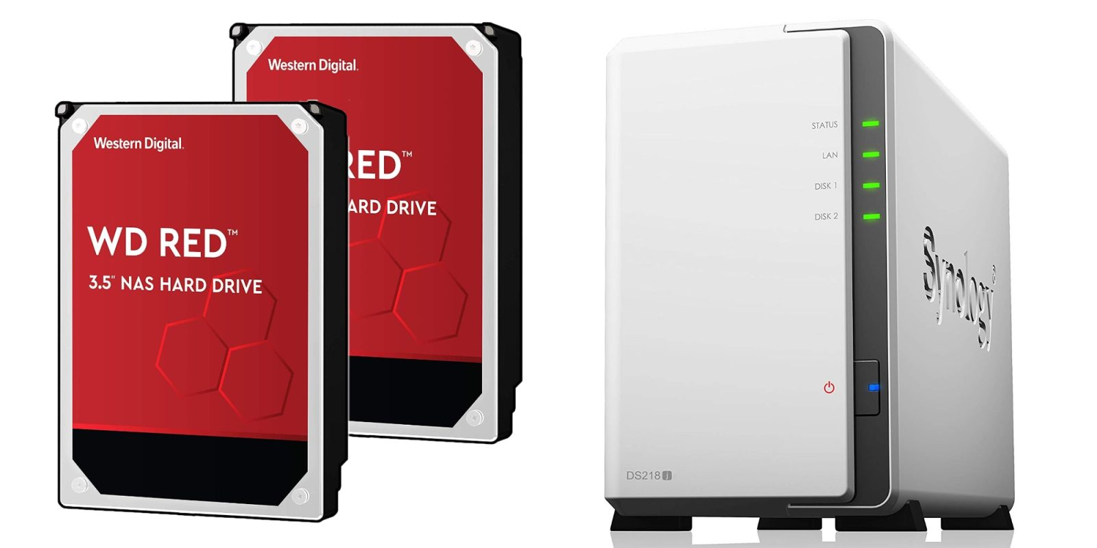 Bundle Synology's 2-Bay NAS with 8TB of WD storage for $316 ($370 value)