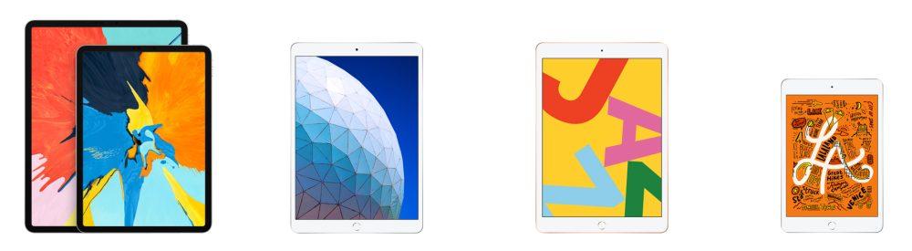 2019 iPad lineup