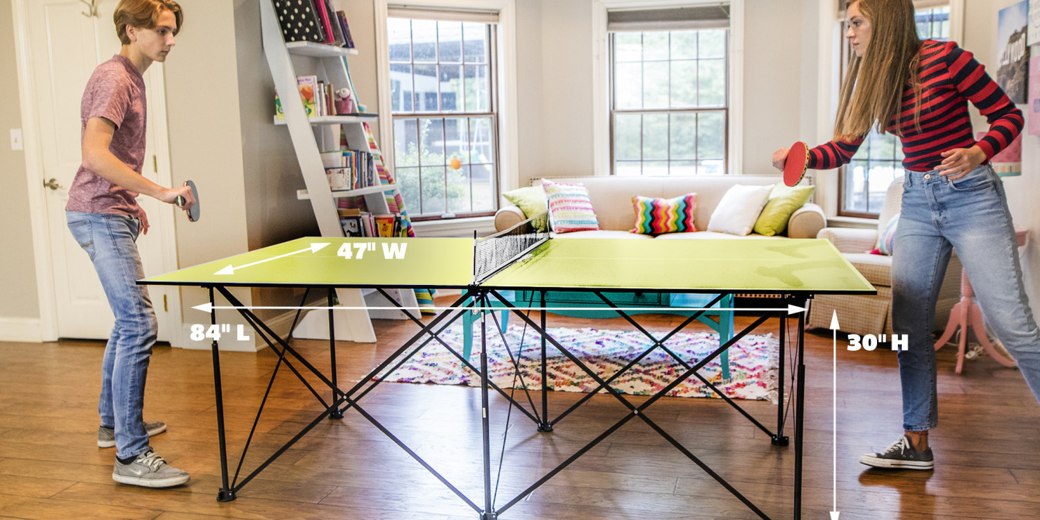 This 7-ft. Ping-Pong Table folds up in seconds, now $92 (Reg. up to $165)