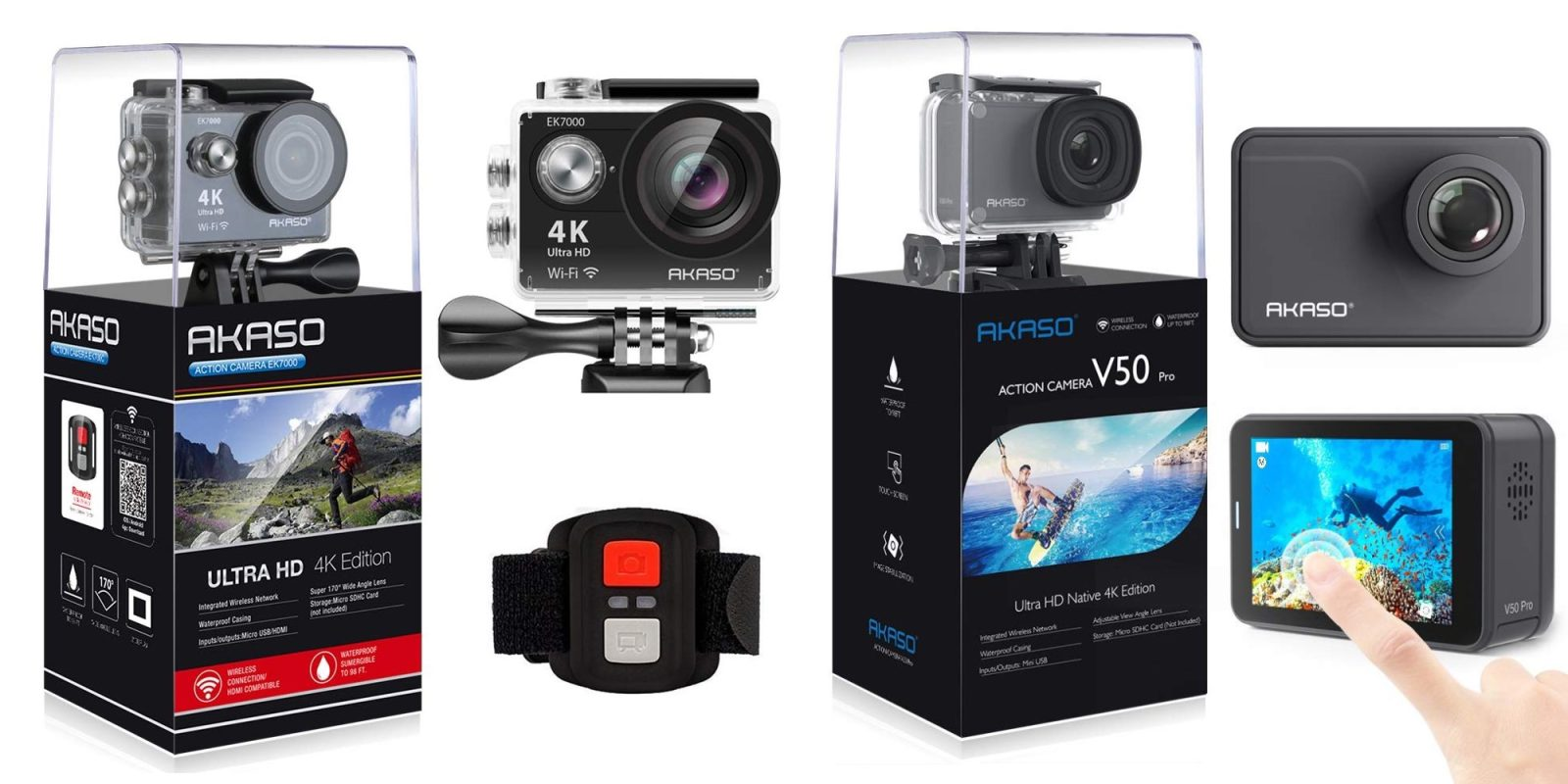 Today's Gold Box takes up to 28% off highly-rated 4K action cameras from $43
