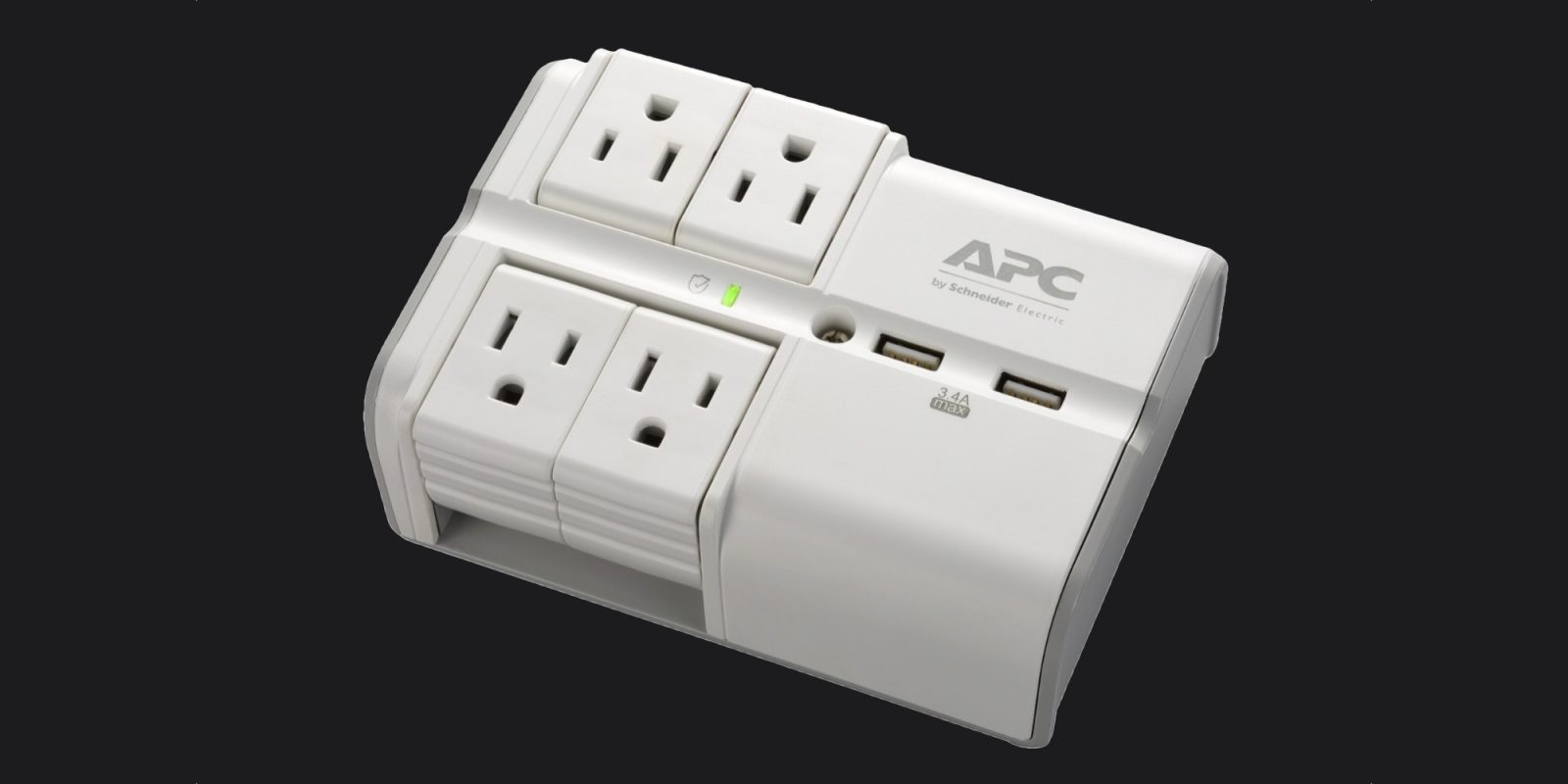 APC's Wall Pivot-Plug Surge Protector is an essential desk upgrade at $22