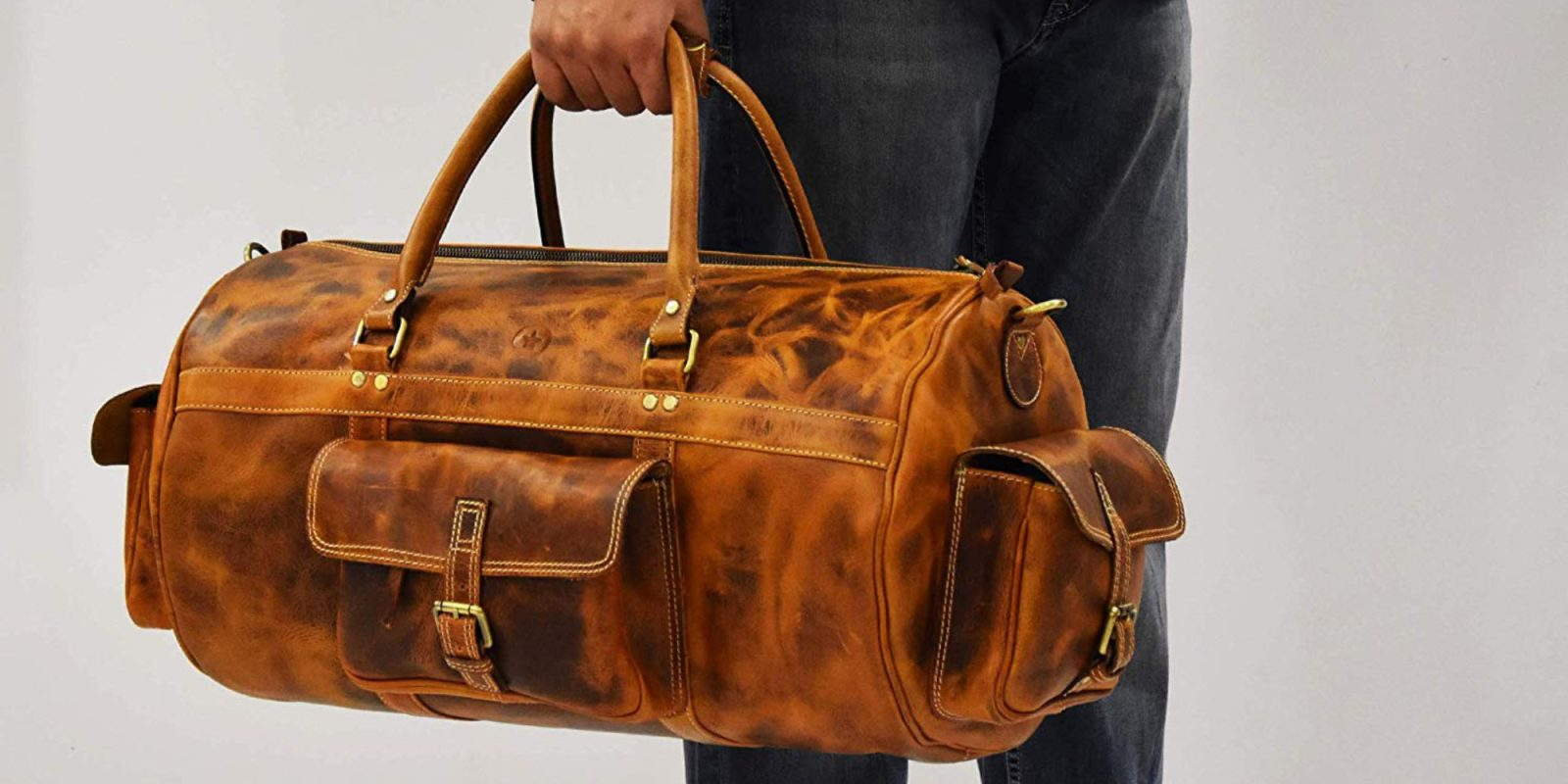 Slash 40% off this highly-rated leather duffel bag at $80 Prime shipped