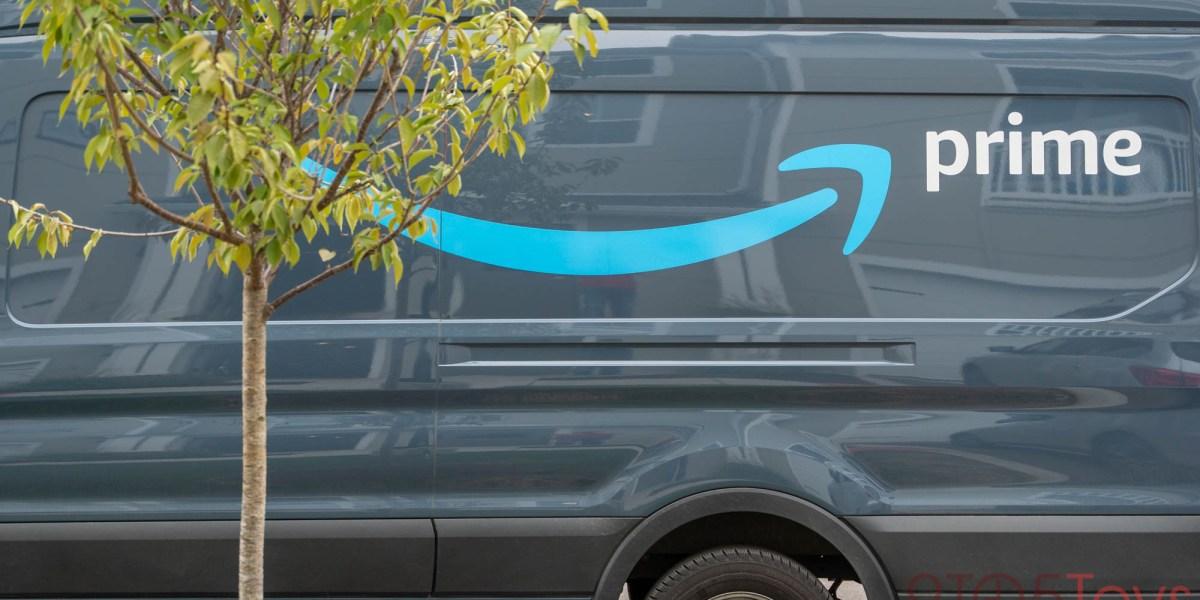 Amazon Prime shipping truck