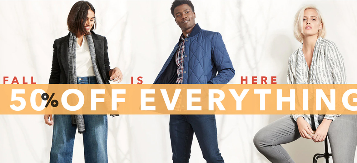 Banana Republic Factory offers 50% off sitewide + extra 15% off your purchase
