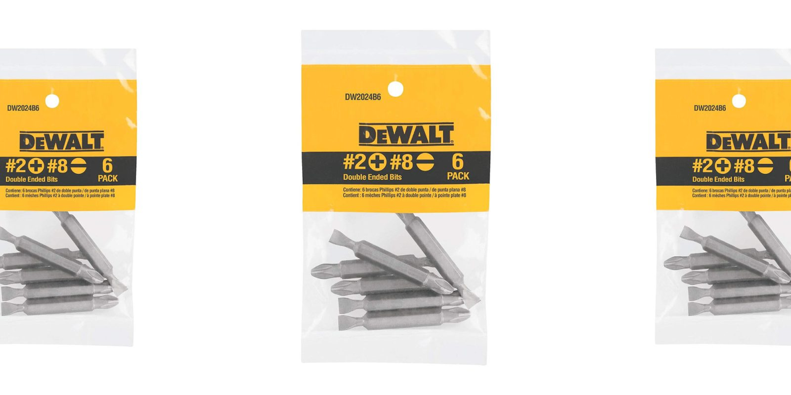 Score six DEWALT Double-Ended Bits for only $3 at Amazon (Save 40%)