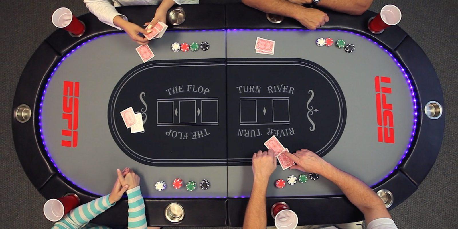 ESPN's 10-Player Poker Table folds + has LED lighting: $160 (Reg. up to $250)