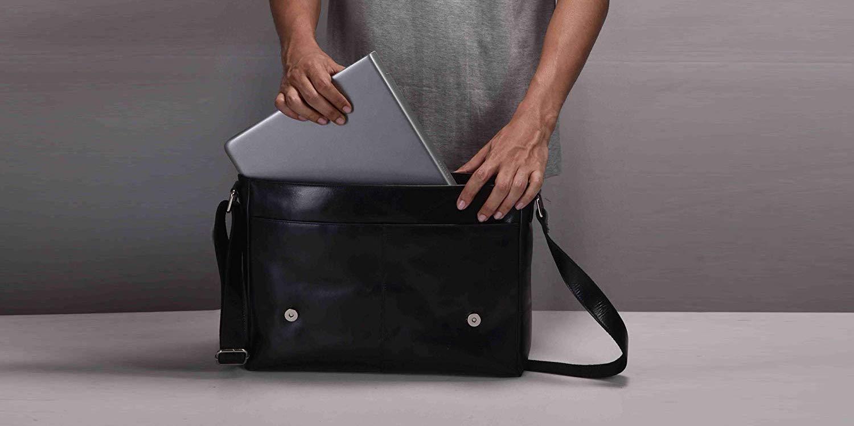 Estalon's MacBook-ready cowhide leather Messenger Bag is now $23 (Reg. $54+)