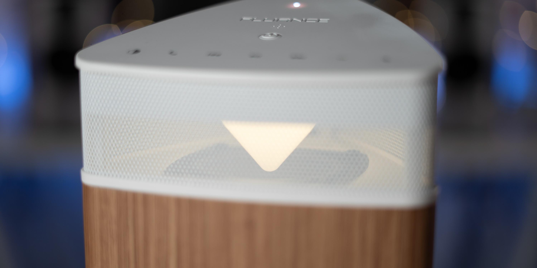 Light inside the Fluance Fi20 Bluetooth Speaker