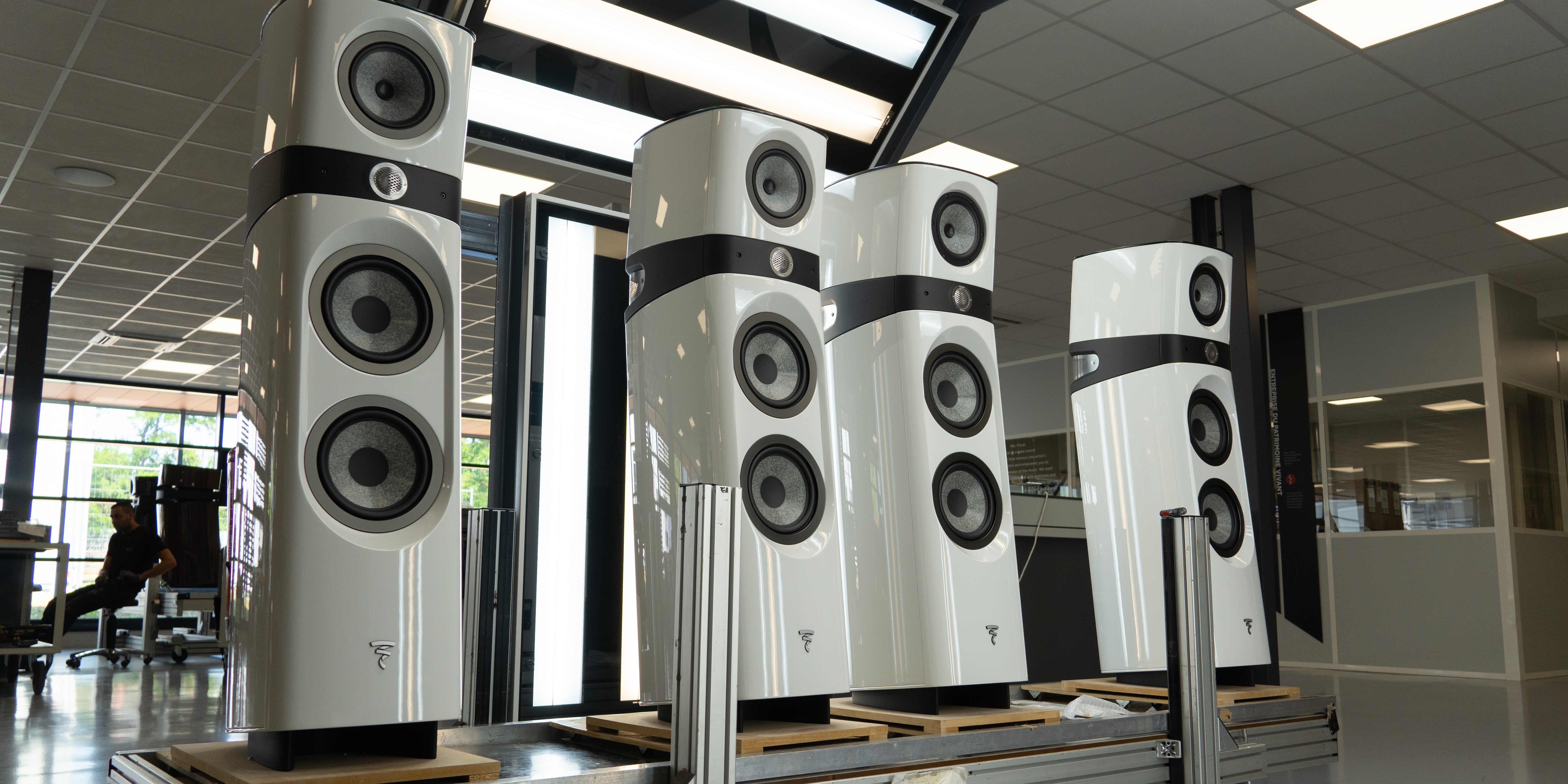 Focal speakers at final assembly