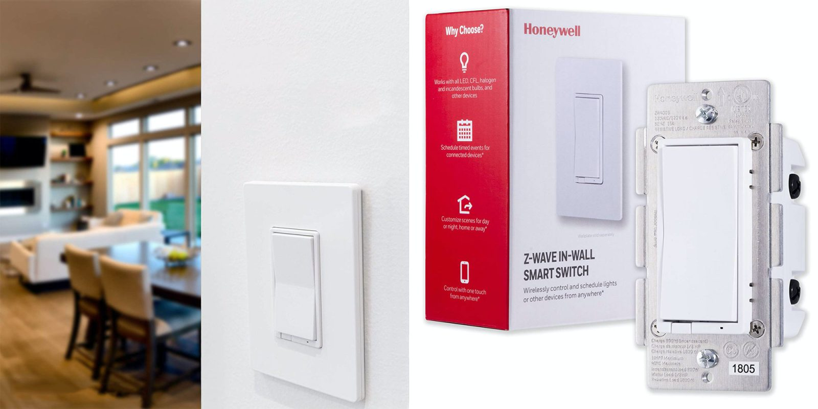 Make your home's lighting smart with Honeywell's Z-Wave Plus switch for $25