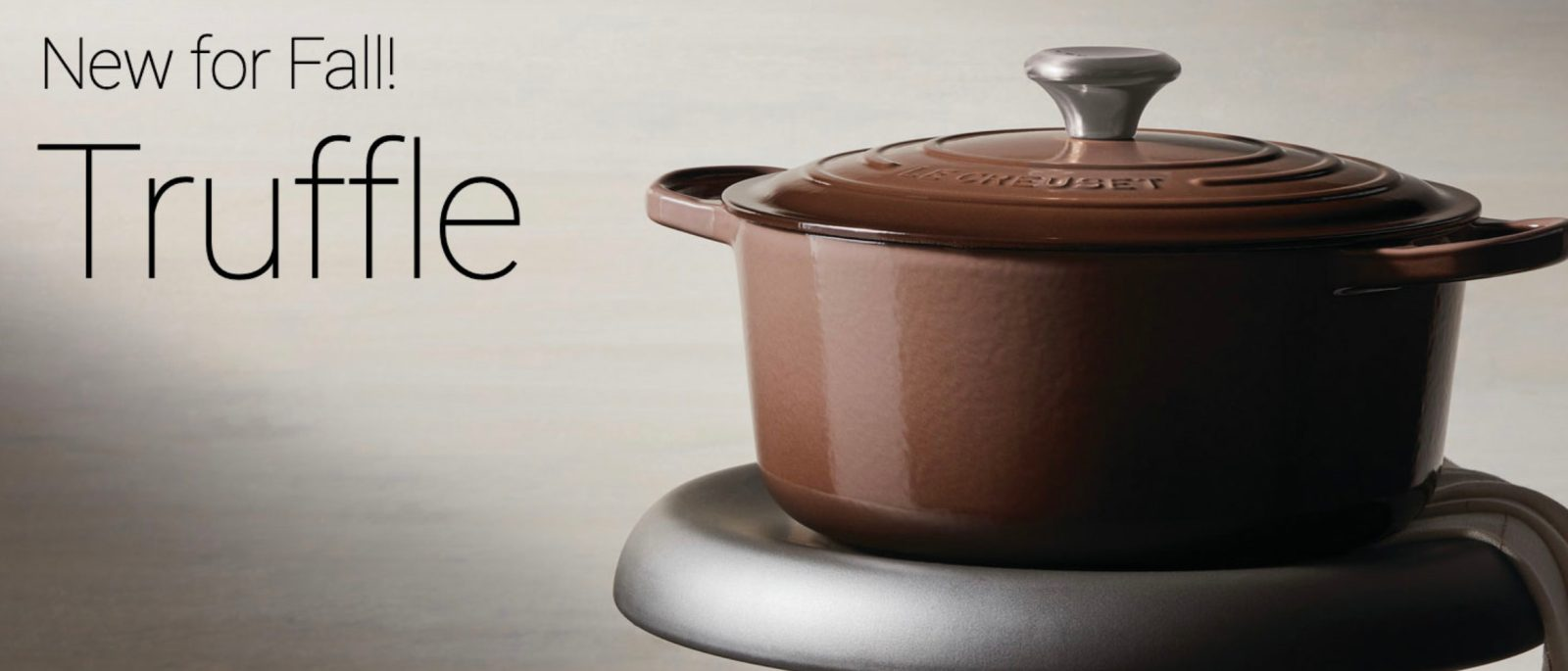 Le Creuset's new Truffle collection gets you ready for cool weather cooking