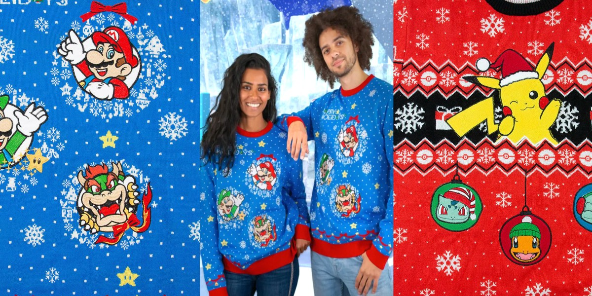 Nintendo Christmas sweaters live now