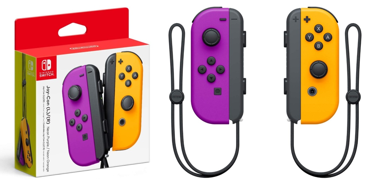 Switch Purple Orange Joy-Con