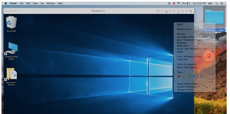 Parallels-Desktop-15-running Windows on Mac