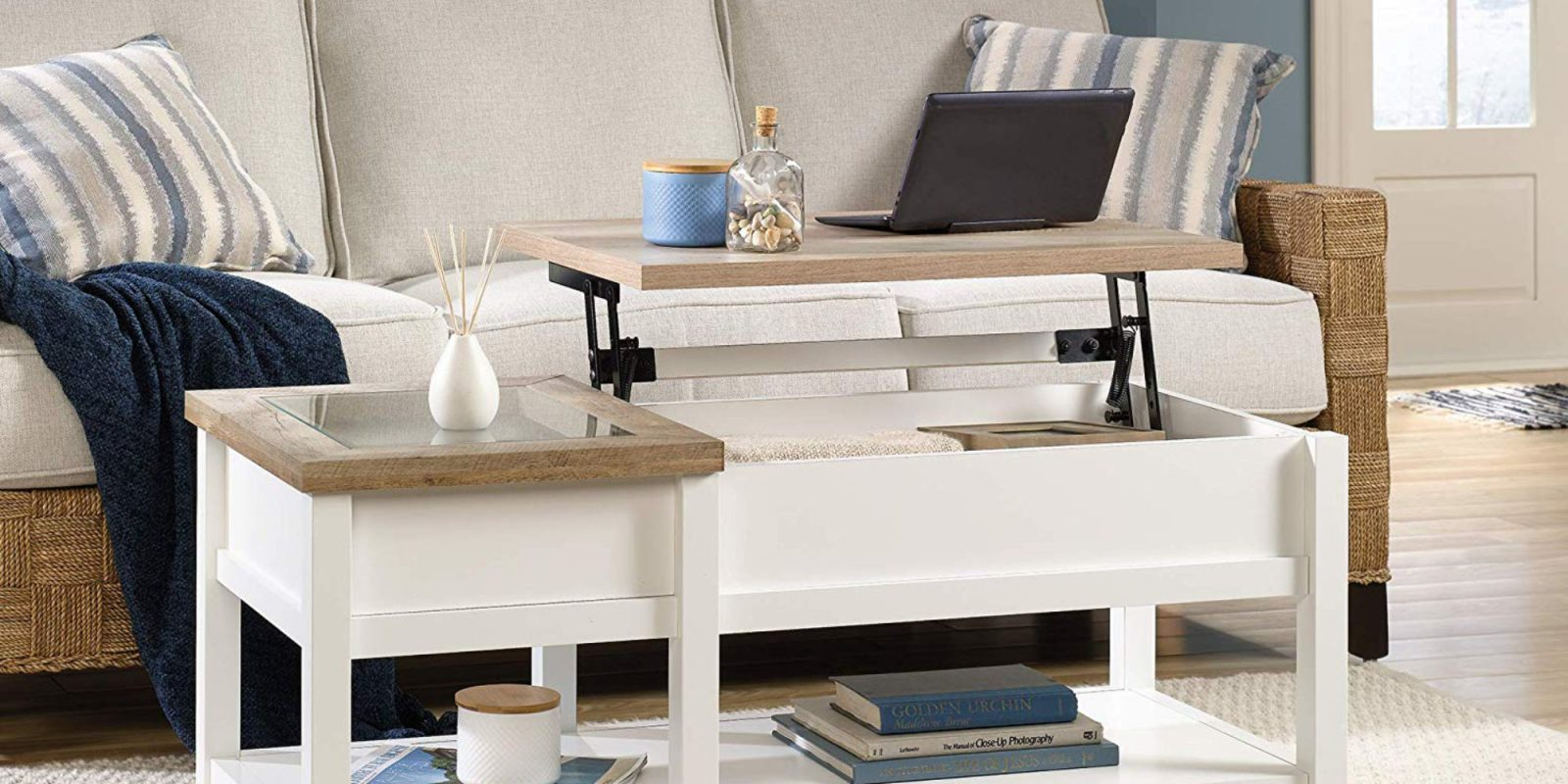 Work from the couch with Sauder's Lift-top Coffee Table: $118 (Save 25%)