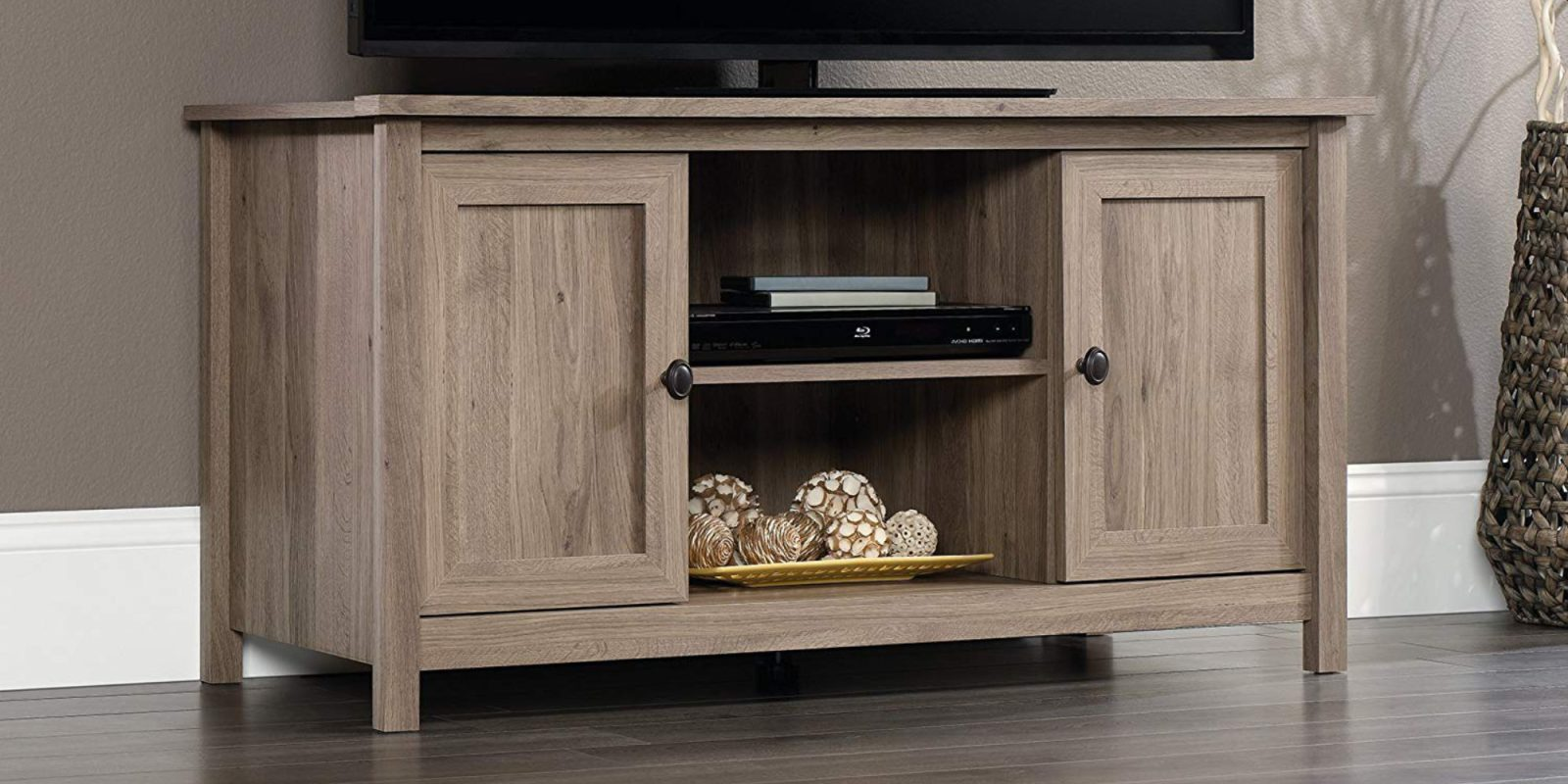 Refresh the living room with Sauder's County Line TV Stand: $103 (Save 25%)
