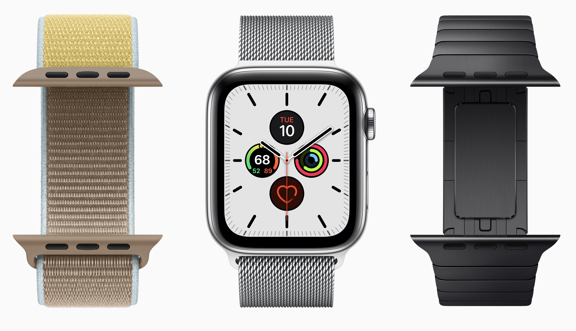 Apple Watch with various bands