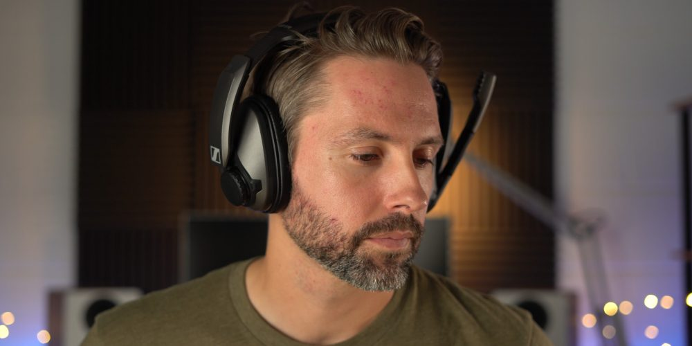 wearing the Sennheiser GSP 370