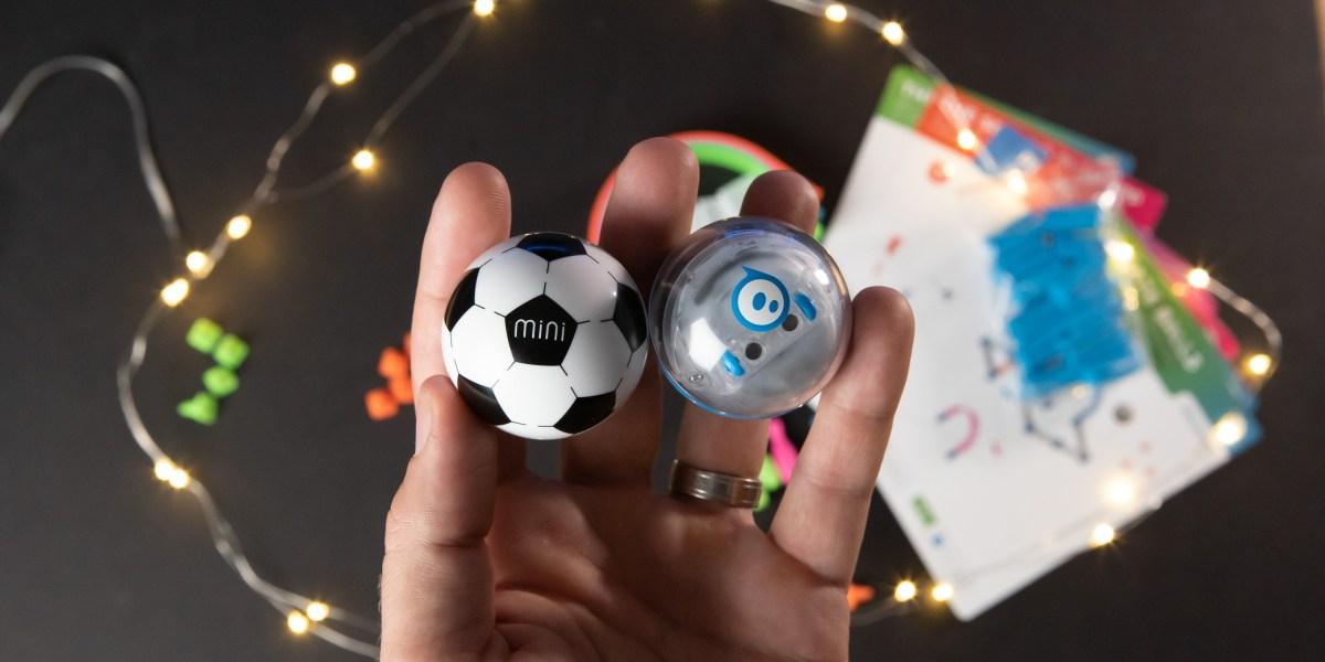 Sphere Mini Soccer and Activity Kit on desk