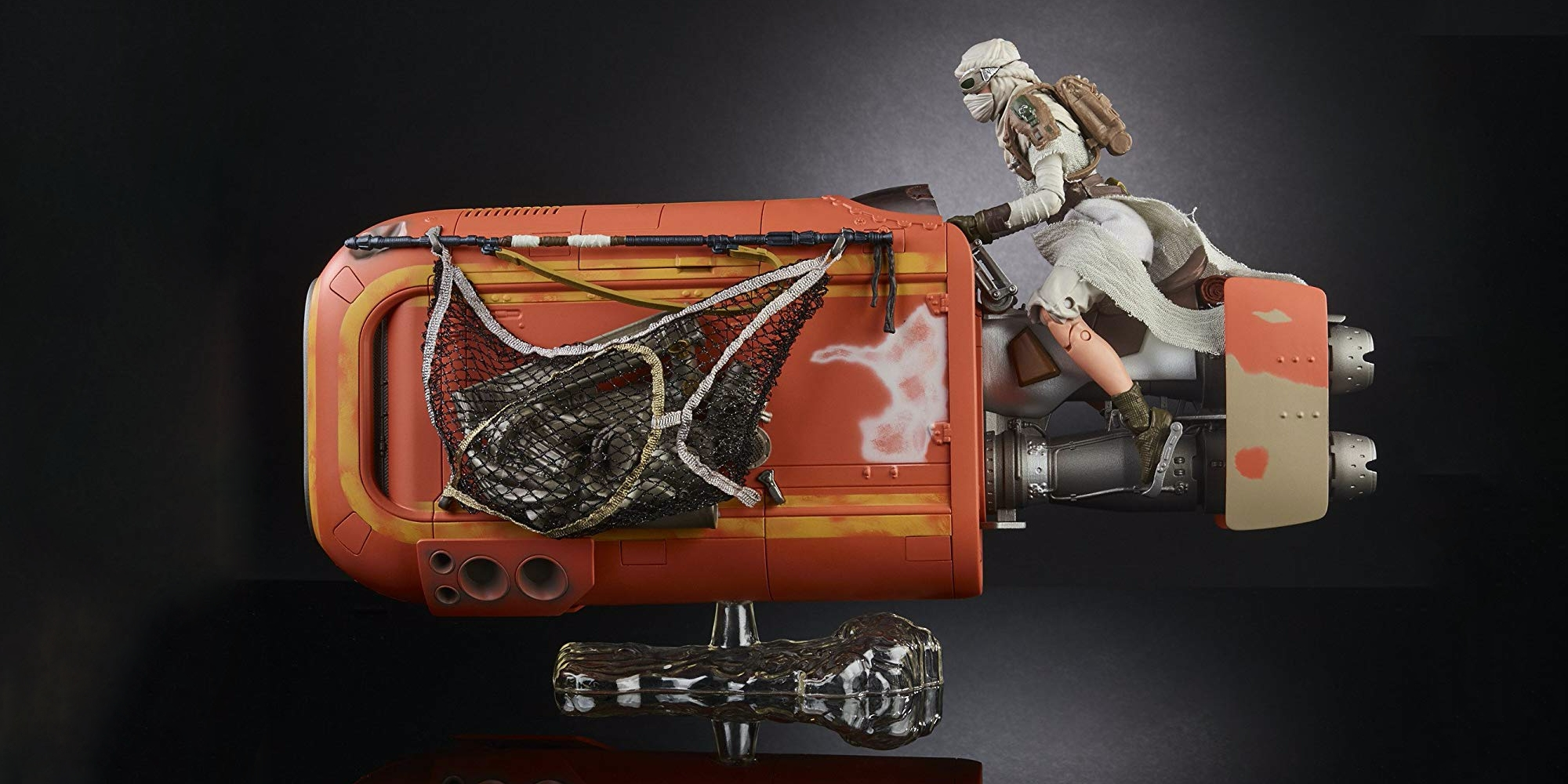 STAR WARS The Black série Collectable Rey/'s Speeder Jakku et figure