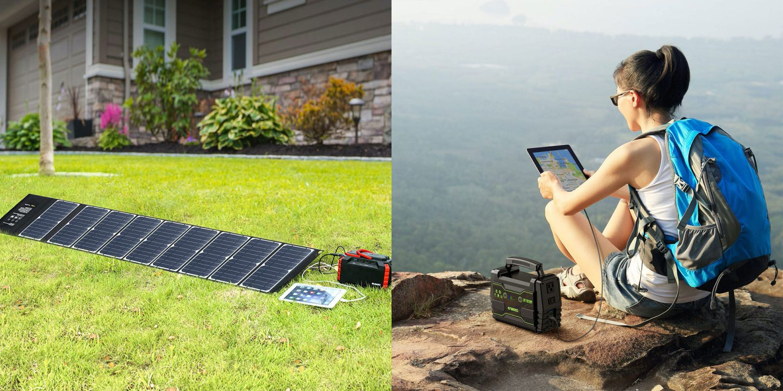Go off the grid with these portable power stations + solar panels from $83