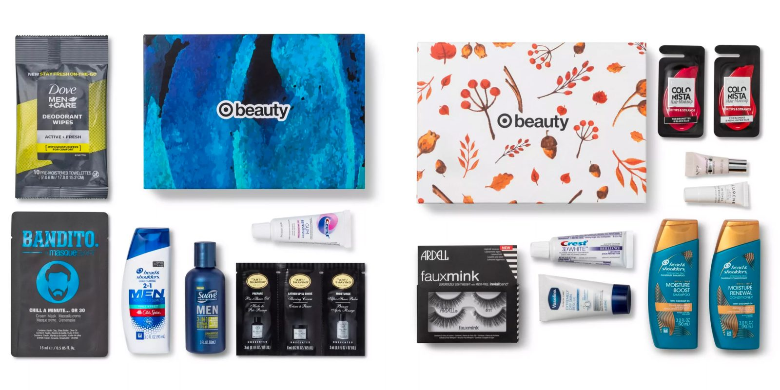 Target's October Beauty Boxes offer options for men and women at $7 shipped