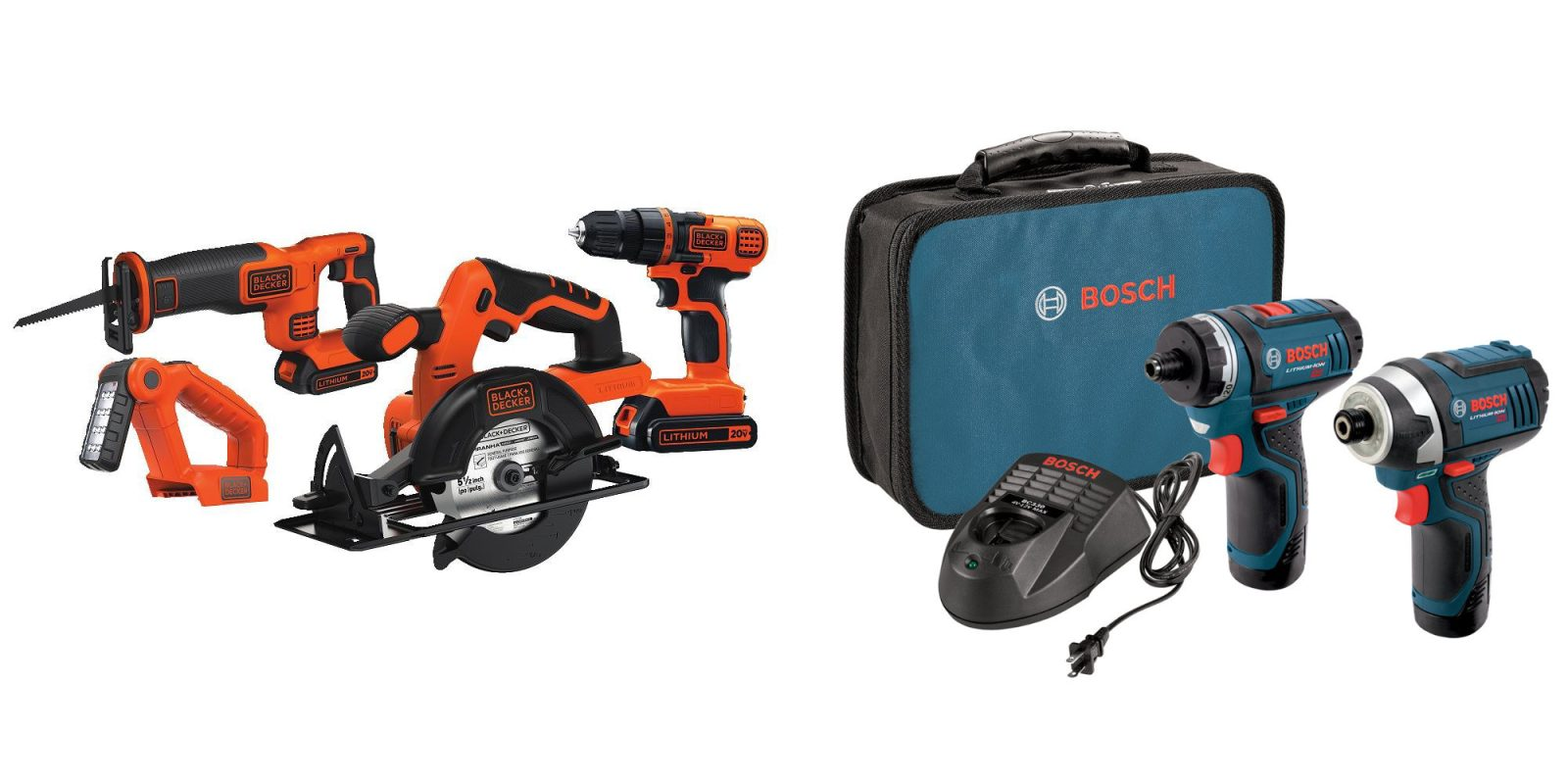 Just $99 scores a BLACK+DECKER 4-Tool or Bosch 2-piece Cordless Combo