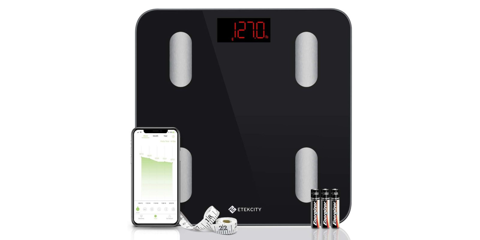 Track weight, BMI, more with Etekcity's Bluetooth HealthKit Smart Scale at $20