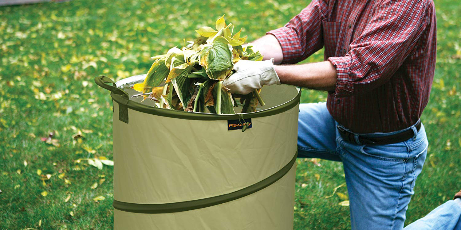 Collect leaves, compost, and more in Fiskar's Kangaroo Bag for $12.50