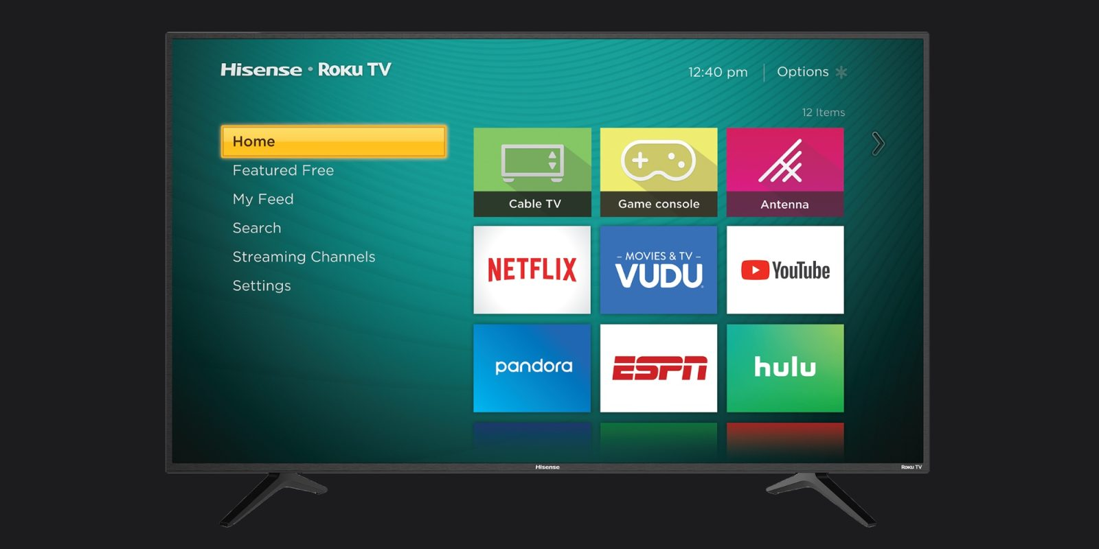 Hisense 50-inch 4K HDR UHDTV has Roku and Apple TV support