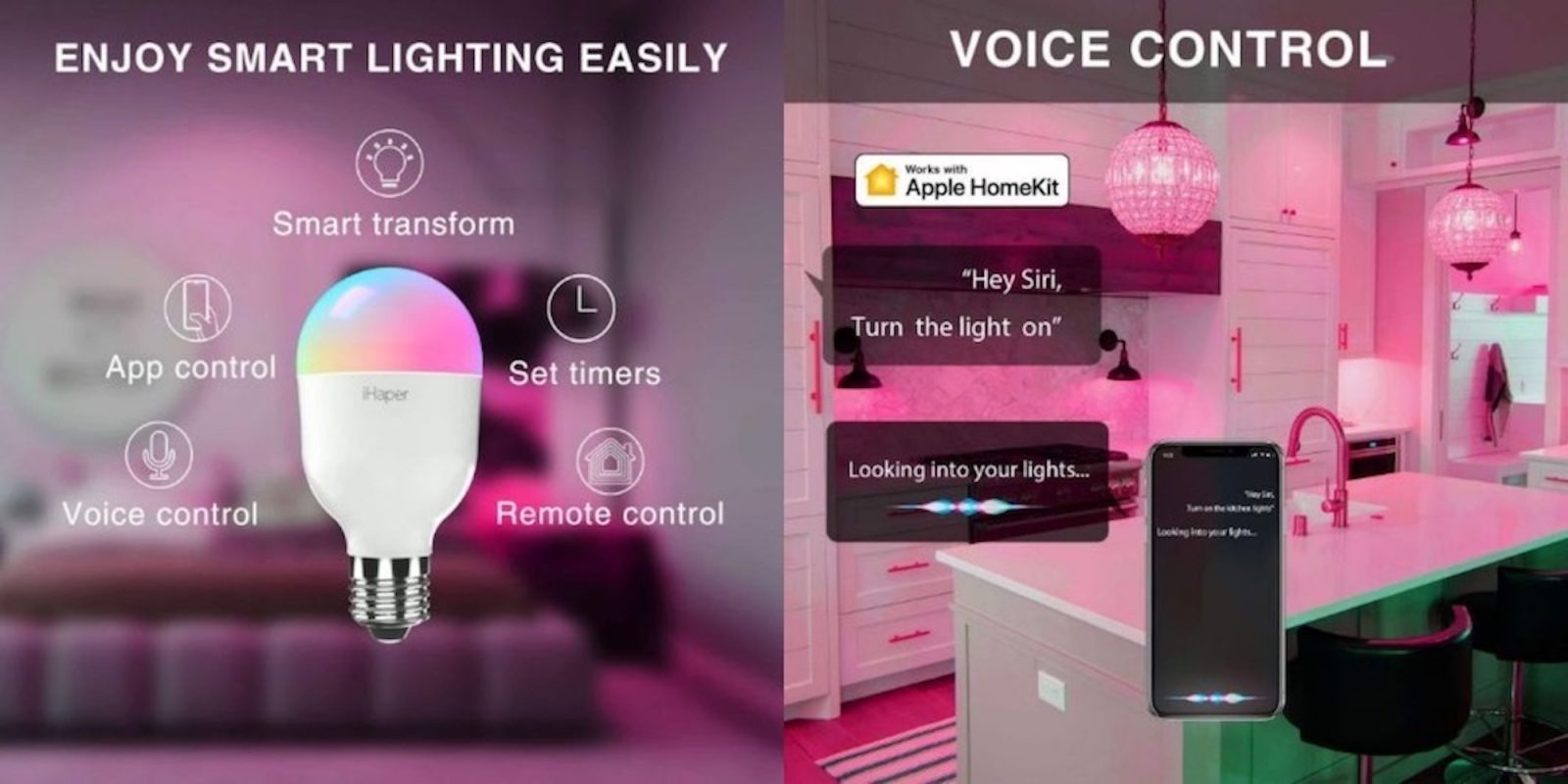 Light up your home with iHaper Smart Bulbs and Lamps starting at $12 (Orig. $20)