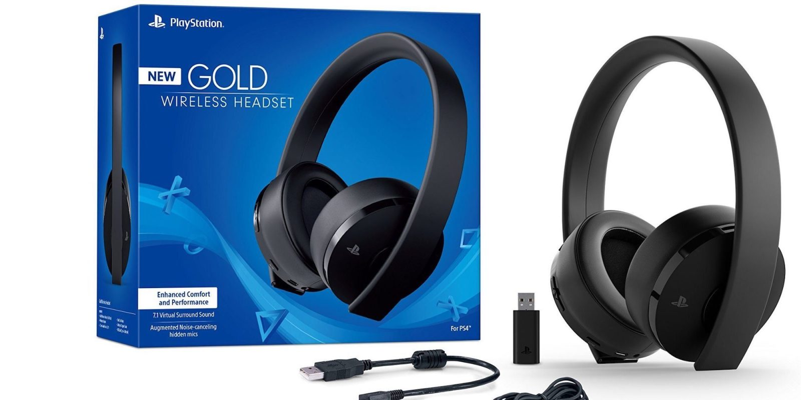 PlayStation Gold Wireless Headset with 7.1 surround sound now $60 (Reg. $74+)