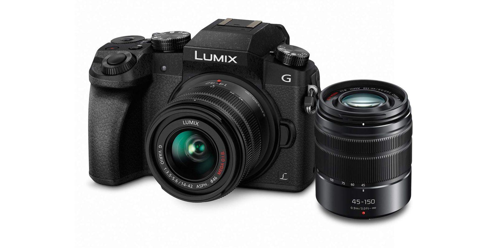 Panasonic's popular LUMIX G7 camera ships with two lenses: $498 (Reg. $700+)