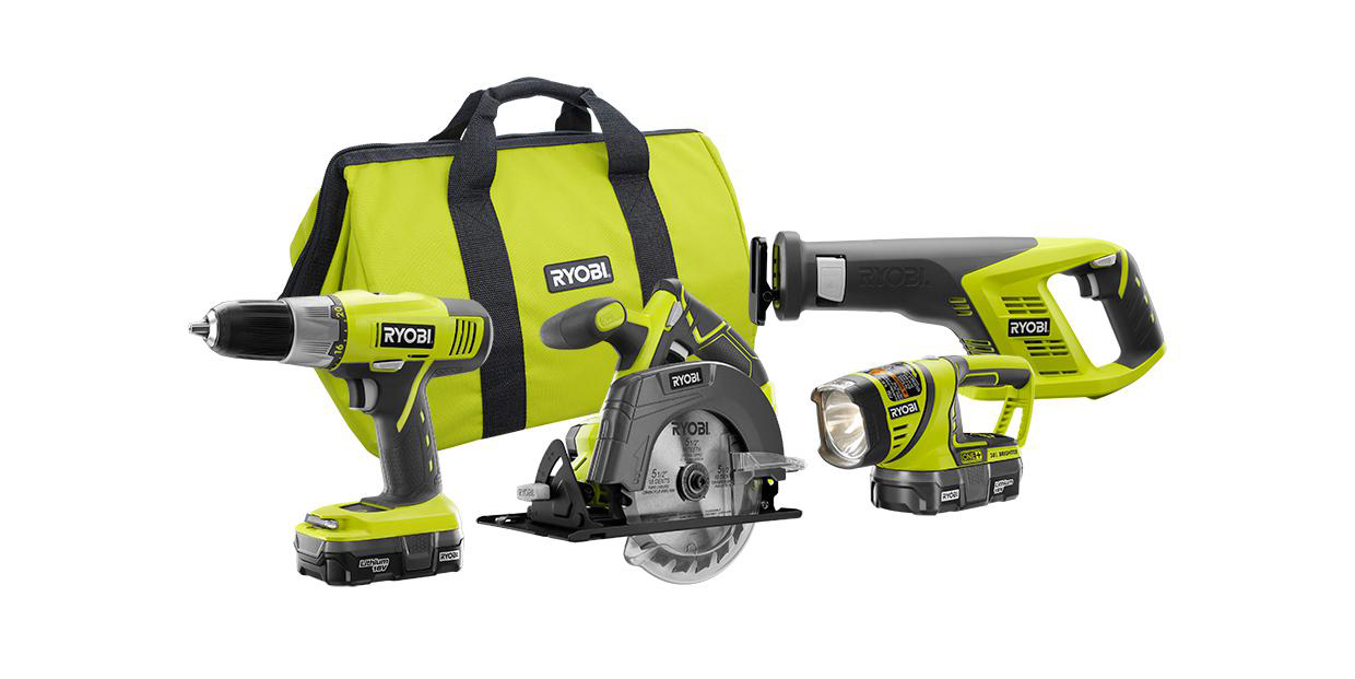 Home Depot will sell you a 4-tool Ryobi 18V kit for $149 ($30+ off)