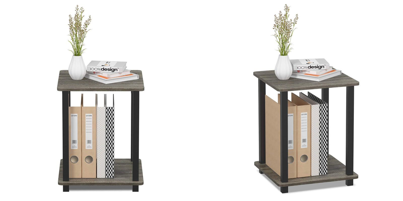 Affordably add two Furinno End Tables to your space at under $25 (Save 40%)