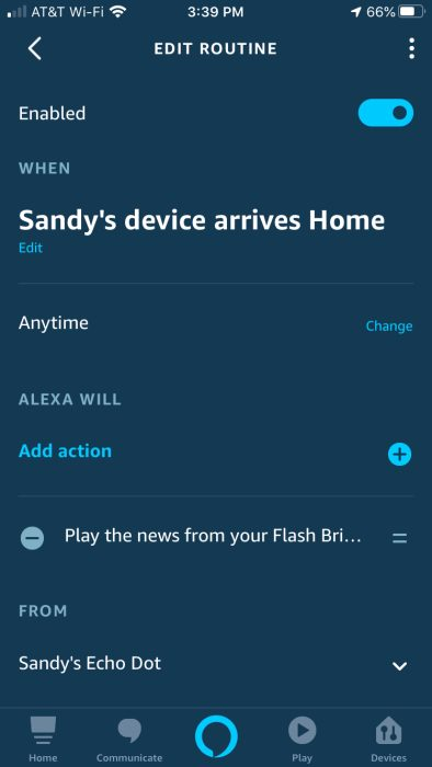Alexa Routine New Briefing