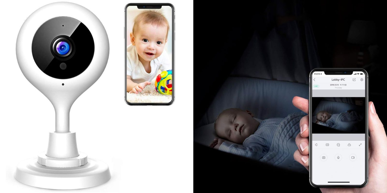 For $19.50 it's easy to keep an eye on your baby with this 1080p camera