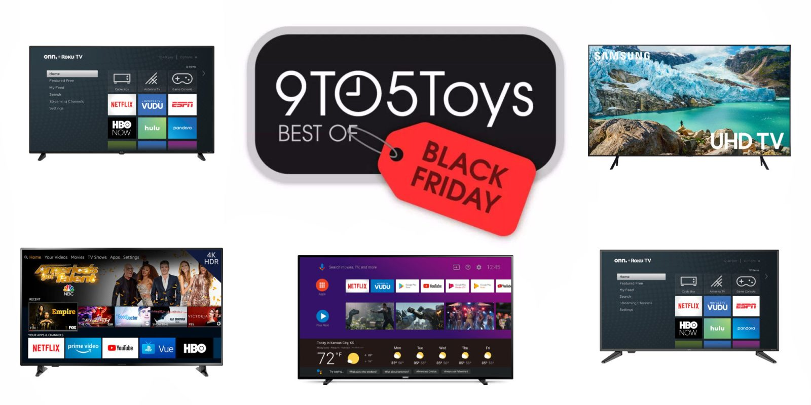 Best of Black Friday 2019 – TVs: 58-inch 4K $198, 70-inch Samsung $550, more