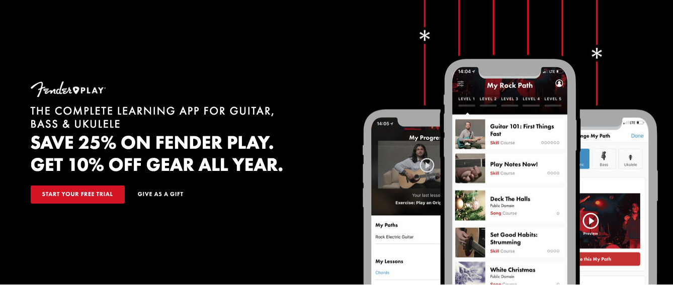 Fender Black Friday 2019 - Fender Play deals