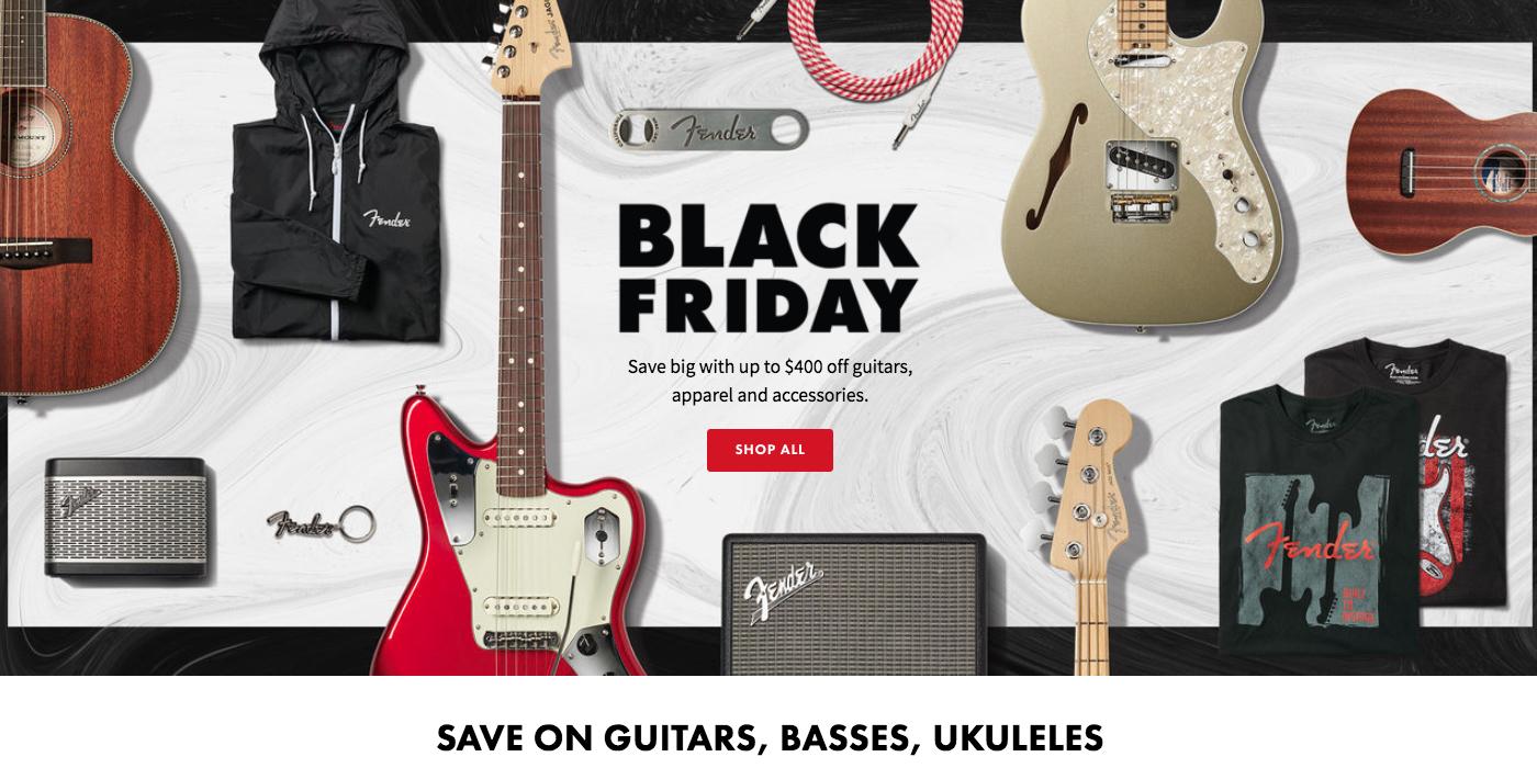 qualité stable prix spécial pour produits de qualité Fender Black Friday Ad 2019: $400 off guitars, apparel, more ...
